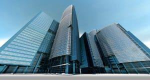 בניינים גבוהים של בנקים